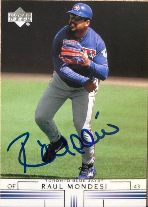 Raul Mondesi Autographed 2002 Upper Deck #80