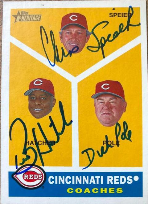 Chris Speier, Billy Hatcher & Dick Pole Autographed 2009 Topps Heritage #459