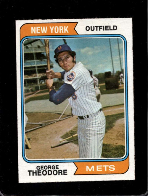 1974 Topps #8 George Theodore VG RC Rookie New York Mets