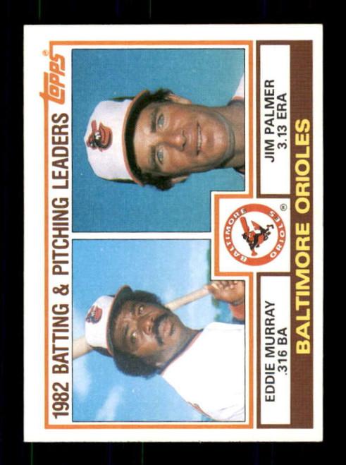 1983 Topps #21 Eddie Murray/Jim Palmer Orioles Batting & Pitching Leaders VG Baltimore Orioles