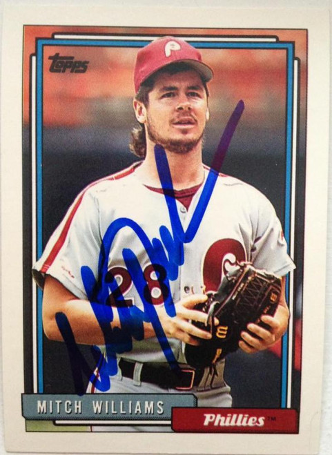 Mitch Williams Autographed 1992 Topps #633
