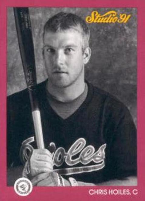 1991 Studio #4 Chris Hoiles NM-MT  Baltimore Orioles