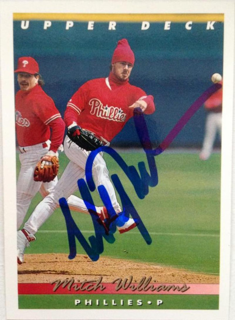 Mitch Williams Autographed 1993 Upper Deck #113