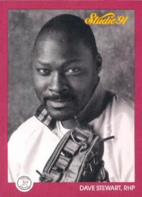 1991 Studio #107 Dave Stewart NM-MT  Oakland Athletics
