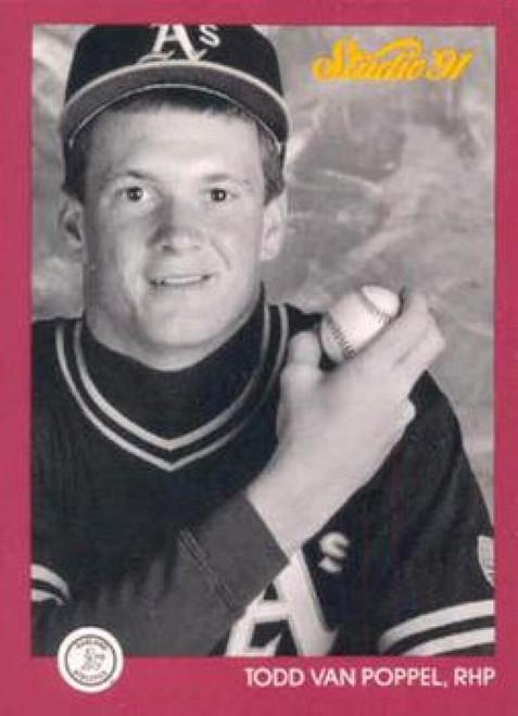 1991 Studio #109 Todd Van Poppel NM-MT  RC Rookie Oakland Athletics