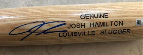 Josh Hamilton Autographed Louisville Slugger Game Model Bat MLB Authenticated