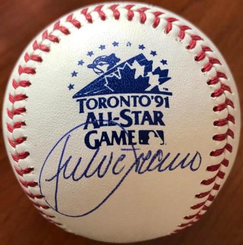 Julio Franco Autographed 1991 All-Star Game Baseball