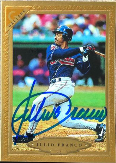 Julio Franco Autographed 1997 Topps Gallery #40