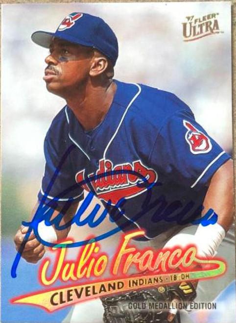 Julio Franco Autographed 1997 Fleer Ultra Gold Medallion #G48