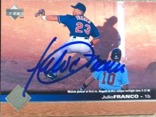 Julio Franco Autographed 1997 Upper Deck #51