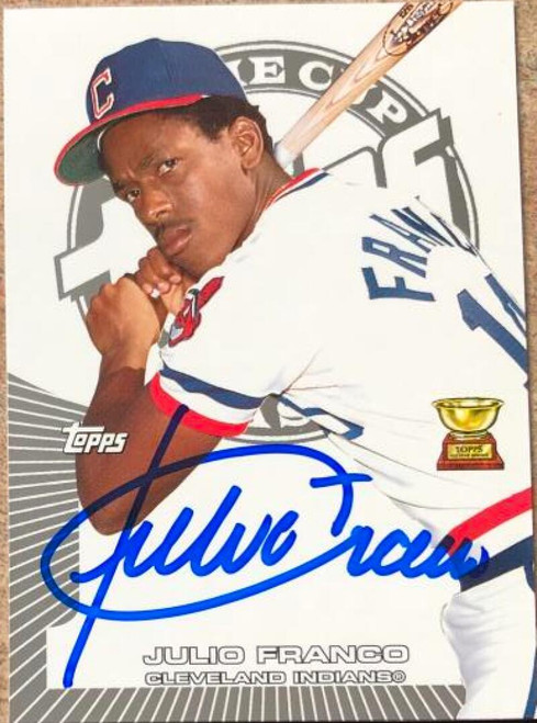 Julio Franco Autographed 2005 Topps Rookie Cup #52