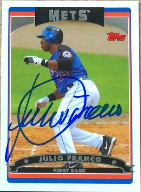 Julio Franco Autographed 2006 Topps #431