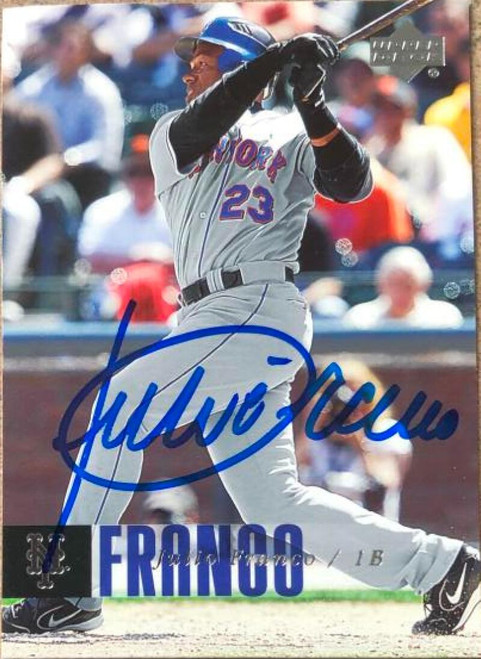 Julio Franco Autographed 2006 Upper Deck #710