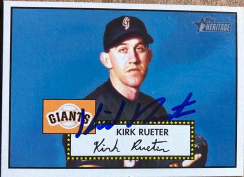 Kirk Rueter Autographed 2001 Topps Heritage #296