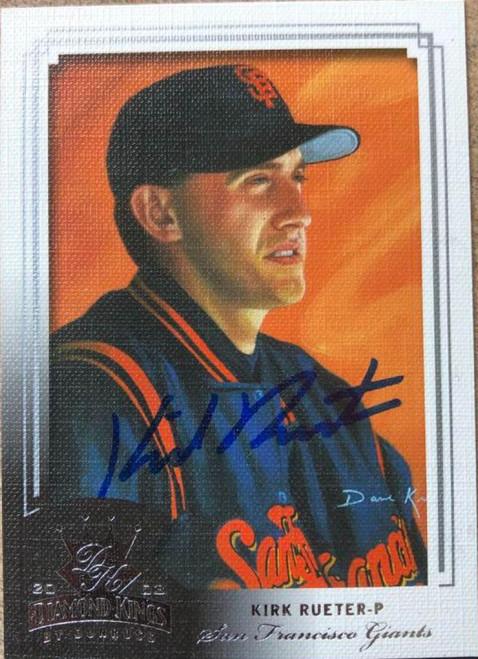 Kirk Rueter Autographed 2003 Donruss Diamond Kings #143