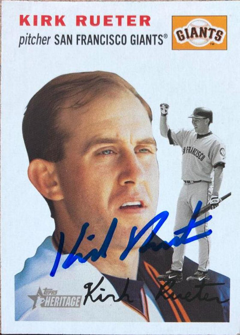 Kirk Rueter Autographed 2003 Topps Heritage #138