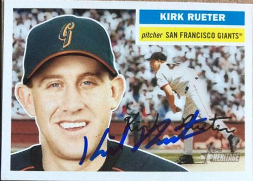Kirk Rueter Autographed 2005 Topps Heritage #43