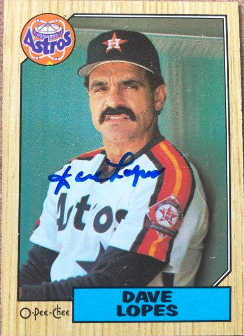 Davey Lopes Autographed 1987 O-Pee-Chee #311