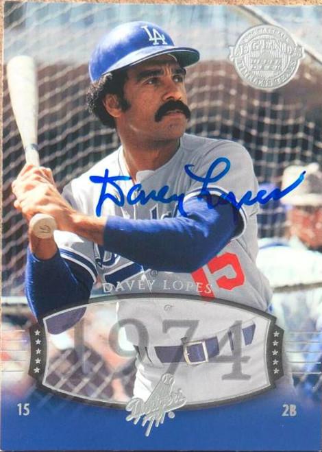 Davey Lopes Autographed 2004 Upper Deck Legends Timeless Teams #94