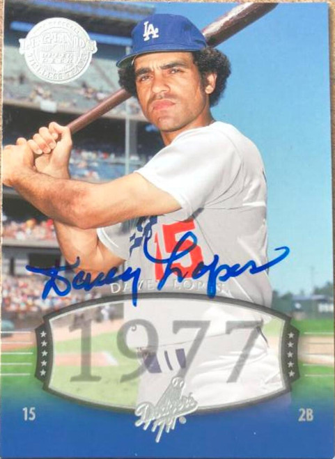 Davey Lopes Autographed 2004 Upper Deck Legends Timeless Teams #138