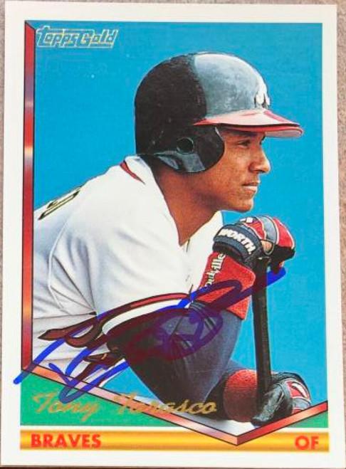 Tony Tarasco Autographed 1994 Topps Gold #442