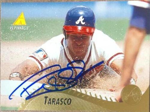 Tony Tarasco Autographed 1995 Pinnacle #212