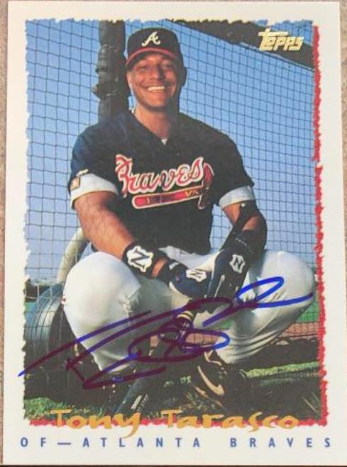 Tony Tarasco Autographed 1995 Topps #32