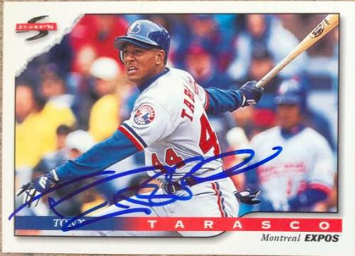Tony Tarasco Autographed 1996 Score #106