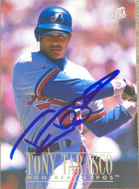 Tony Tarasco Autographed 1996 Fleer Ultra #237