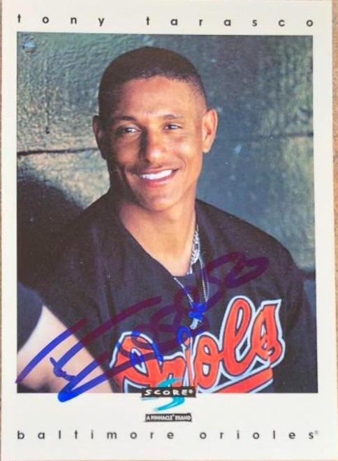 Tony Tarasco Autographed 1997 Score #382