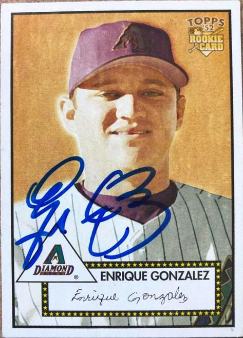 Enrique Gonzalez Autographed 2001 Topps Heritage #2