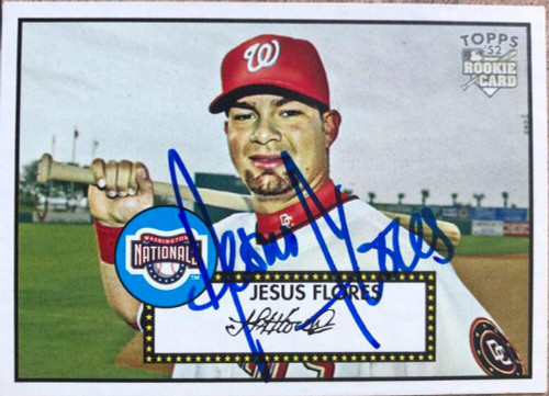 Jesus Flores Autographed 2001 Topps Heritage #6