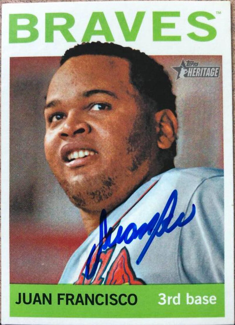 Juan Francisco Autographed 2013 Topps Heritage #417