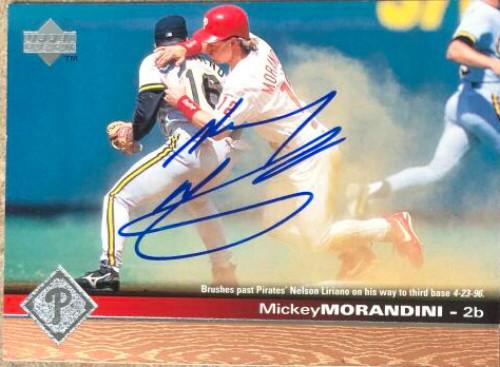 Mickey Morandini Autographed 1997 Upper Deck #154