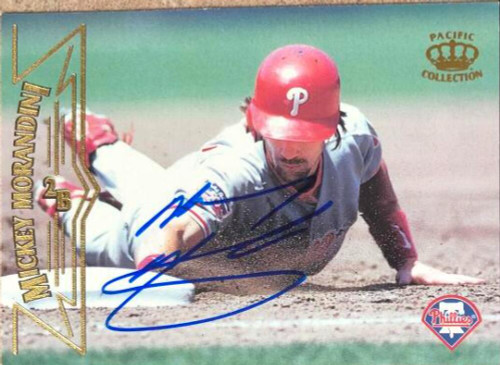 Mickey Morandini Autographed 1998 Pacific #385
