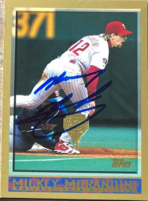 Mickey Morandini Autographed 1998 Topps Inagural Diamondbacks #219