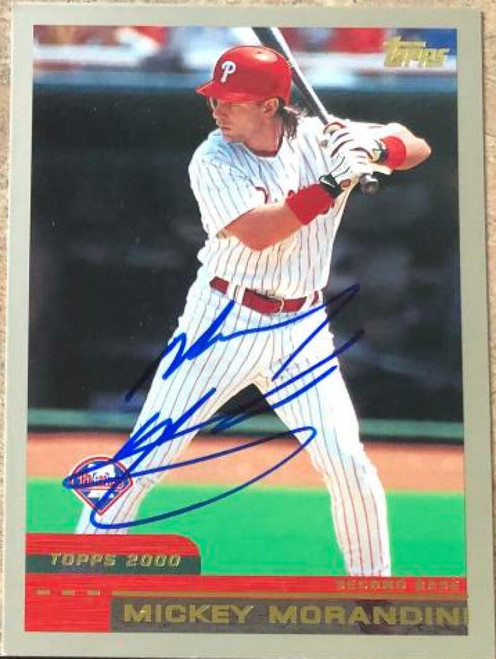 Mickey Morandini Autographed 2000 Topps Traded & Rookies #T-104