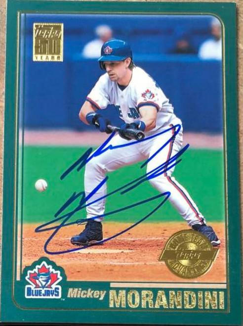 Mickey Morandini Autographed 2001 Topps Home Team Advantage #418