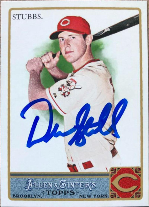 Drew Stubbs Autographed 2011 Topps Allen & Ginter Glossy Factory Set #343 LE/999
