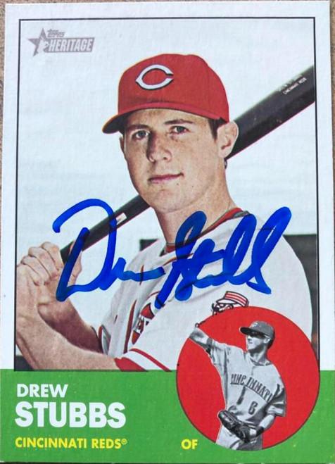 Drew Stubbs Autographed 2012 Topps Heritage #21