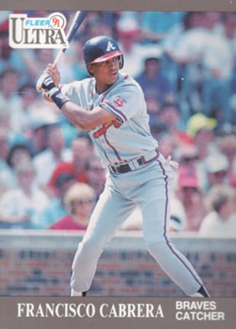 1991 Ultra #3 Francisco Cabrera VG Atlanta Braves