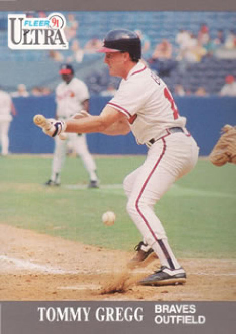 1991 Ultra #6 Tommy Gregg VG Atlanta Braves