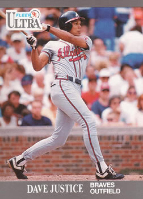 1991 Ultra #7 David Justice VG Atlanta Braves