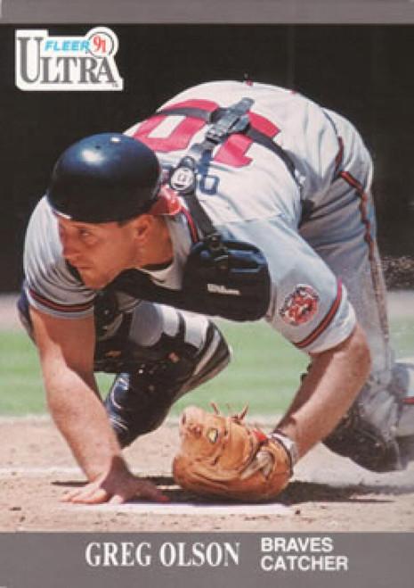 1991 Ultra #9 Greg Olson VG Atlanta Braves