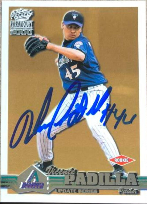 Vicente Padilla Autographed 2000 Pacific Paramount Update #6-U Rookie Card