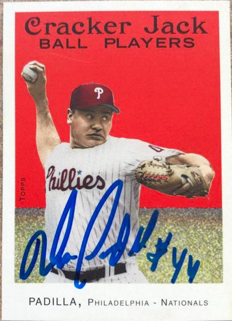 Vicente Padilla Autographed 2004 Topps Cracker Jack #129