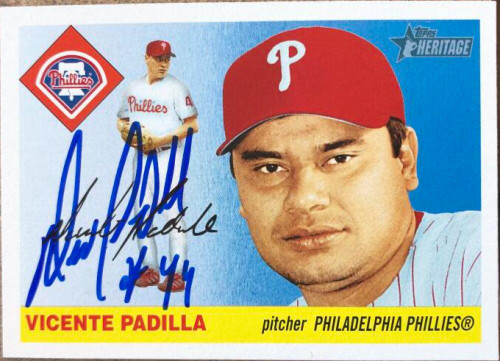 Vicente Padilla Autographed 2004 Topps Heritage #157