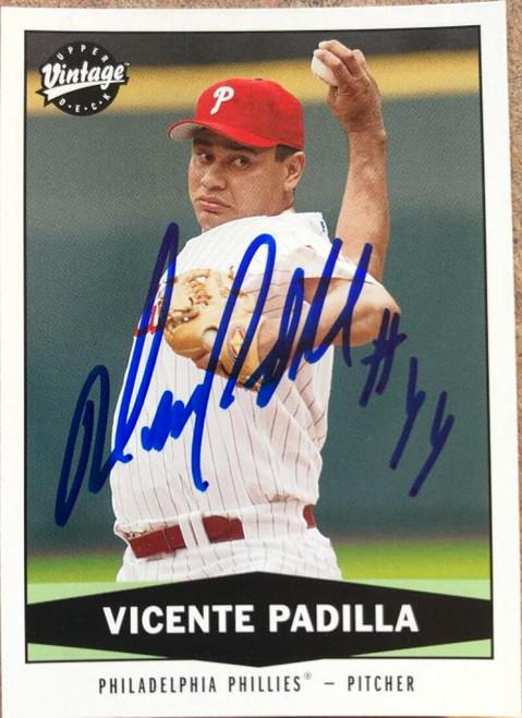 Vicente Padilla Autographed 2004 Upper Deck Vintage #105