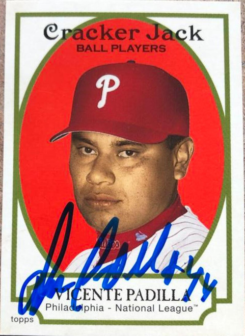 Vicente Padilla Autographed 2005 Topps Cracker Jack #59