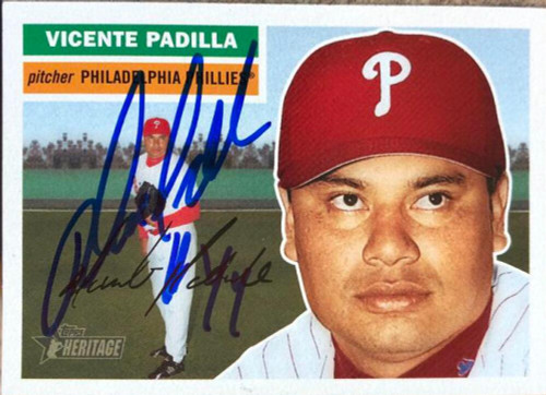 Vicente Padilla Autographed 2005 Topps Heritage #147